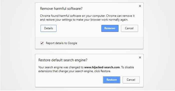 detección de malware en Chrome