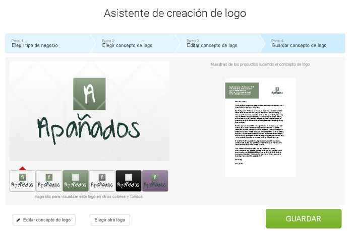 Logaster crear logo y editar