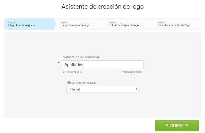 crear un logotipo con Logaster, escribir  nombre