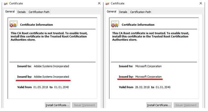 certificados falsos
