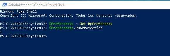 Windows PowerShell, bloquear crapware habilitado