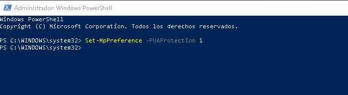 windows PowerShell, comando para bloquear crapware