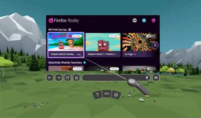 Firefox Reality para juegos