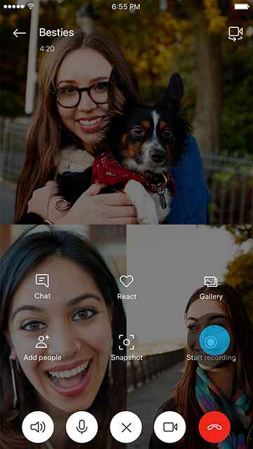 Iniciar grabación de una llamada de Skype (móvil)