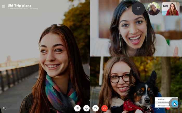 Iniciar grabación de una llamada de Skype