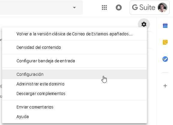 configuración Gmail