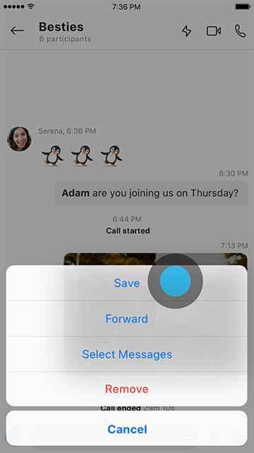 guardar grabación de llamadas de Skype (móvil)