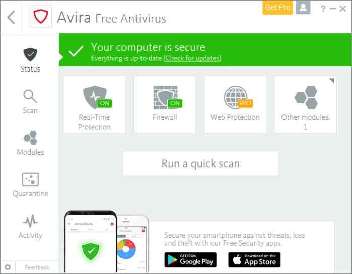 Avira Antivirus Free Edition