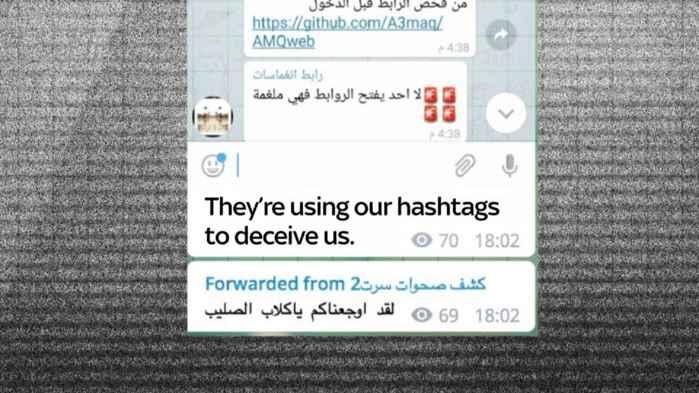 mensaje falso en Telegram
