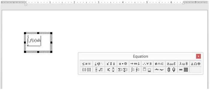 MS Office ecuaciones