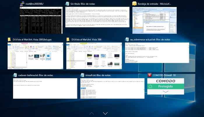 vista de tareas de Windows 10