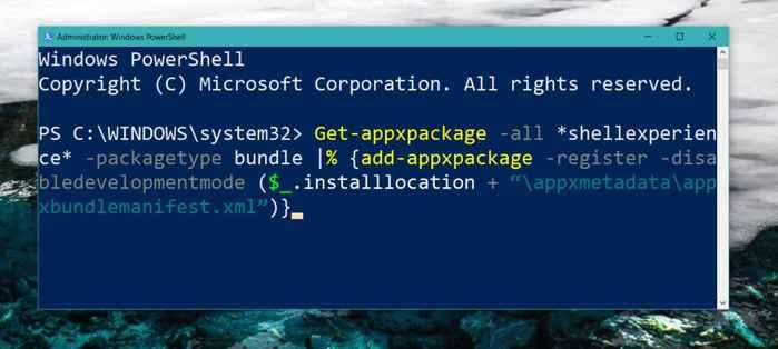 PowerShell de Windows 10