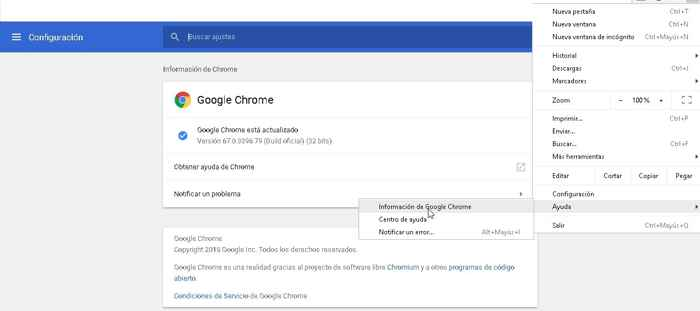 estado de Google Chrome