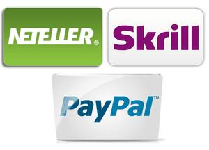 Neteller, Skrill y Paypal