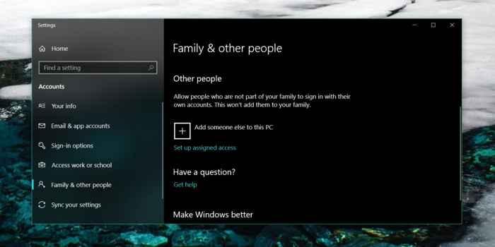 nuevo usuario de Windows 10