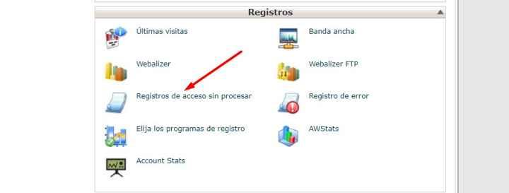 registros de acceso en cPanel