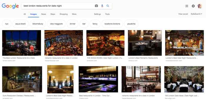 búsqueda de restaurantes