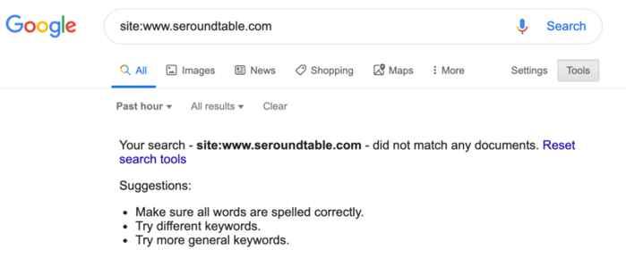 seroundtable error de indexación