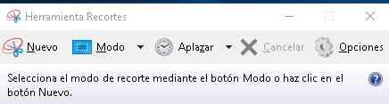herramienta de recorte en Windows 10