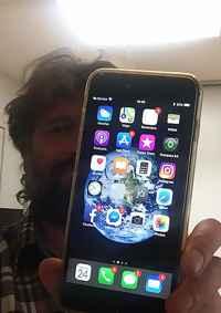 iPhone 6s Plus de Haukur después de la caída