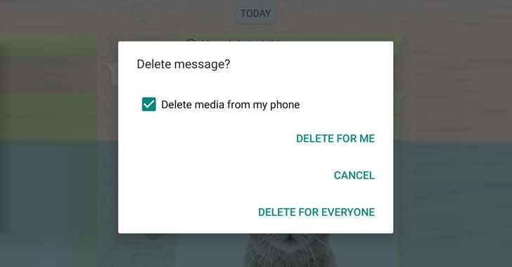 Whatsapp borrar para todos
