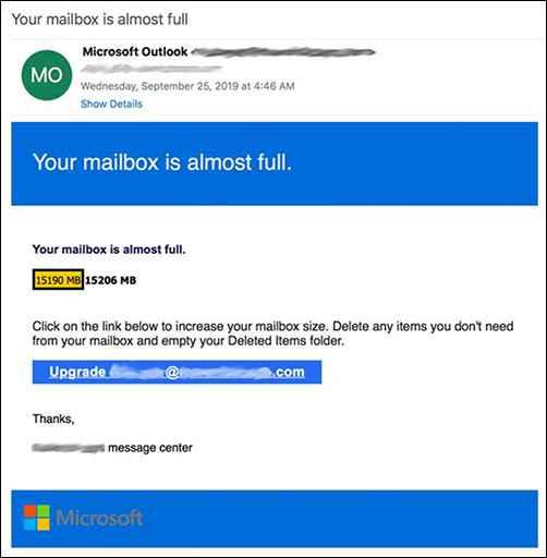 phishing en Office365