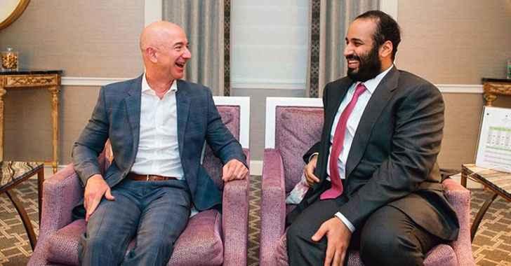 encuentro entre Jeff Bezos y Mohammed bin-Salman