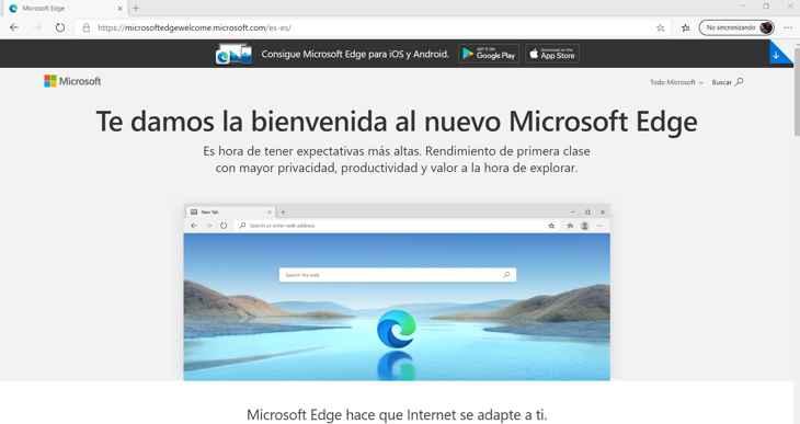 Microsoft Edge pestaña