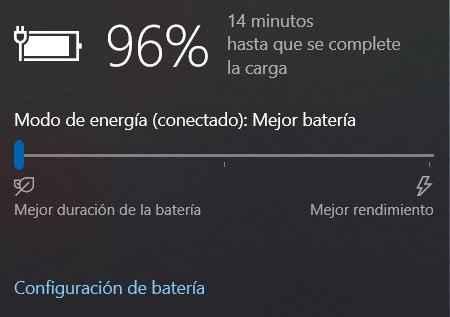 batería cargando