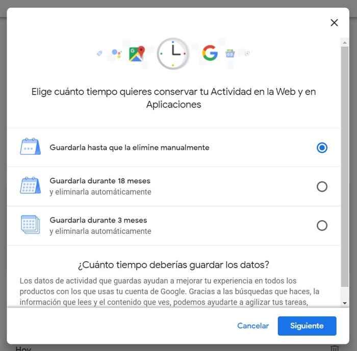Google, Actividad Web y Aplicaciones