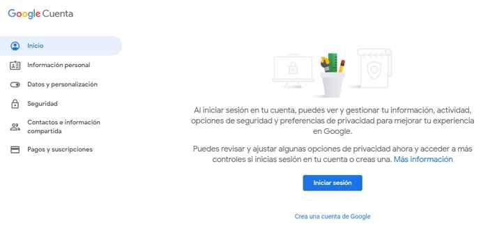 aviso de privacidad de Google