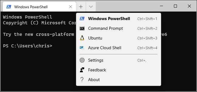 PowerShell y Linux en Windows Terminal