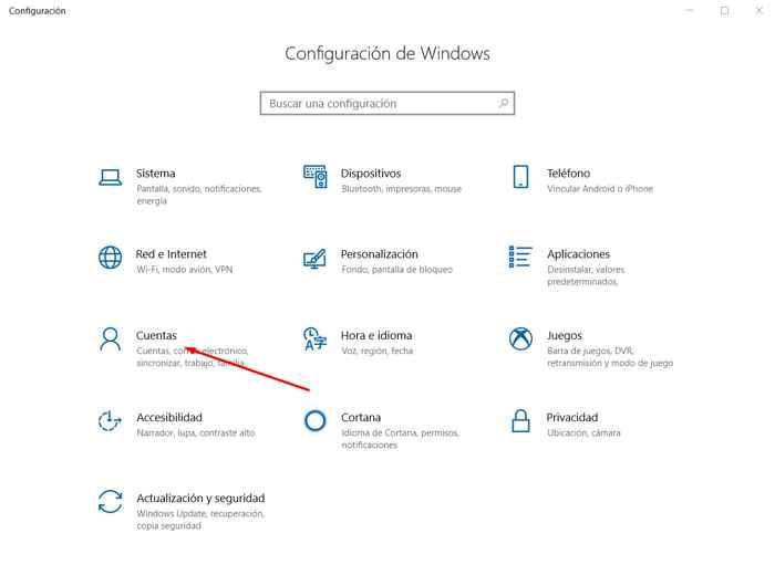 cuentas de Windows 10