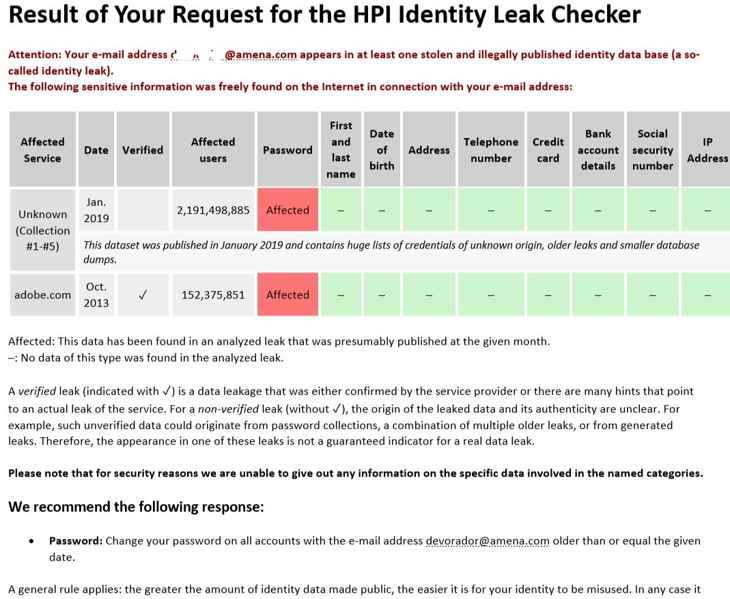 identity leak checker