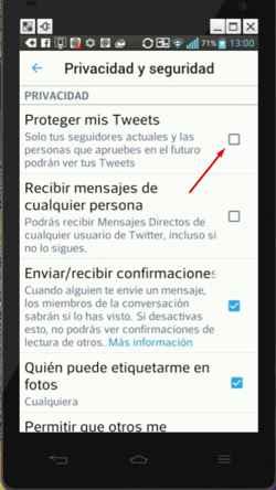 proteger mis tweets
