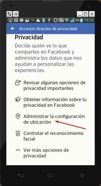 administrar tu ubicación en Facebook