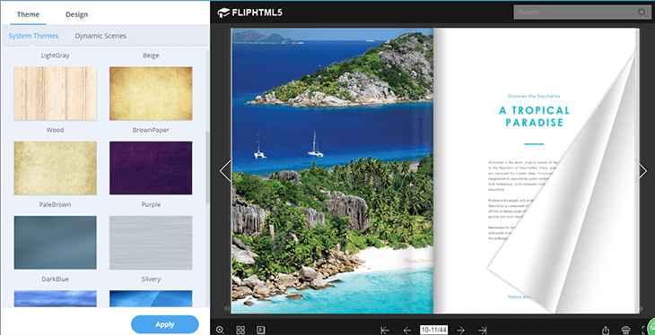 FlipHTML5, personalizar