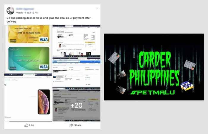 datos de tarjetas con venta en Facebook