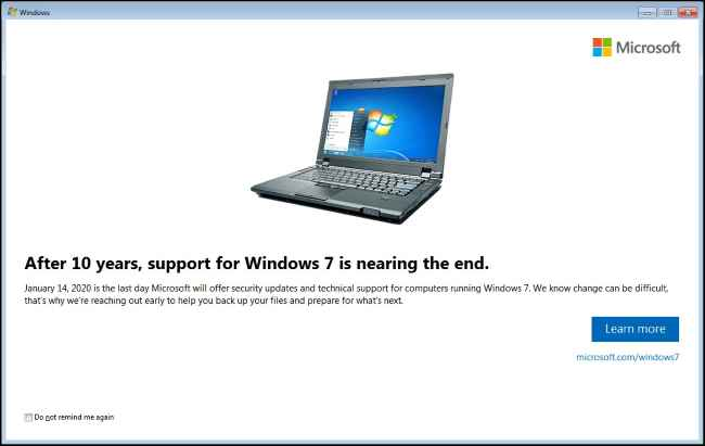final de soporte para Windows 7