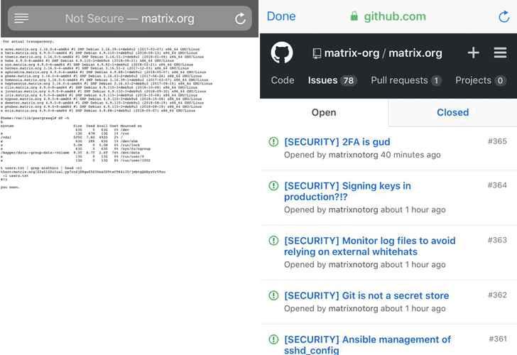 Matrix en Github