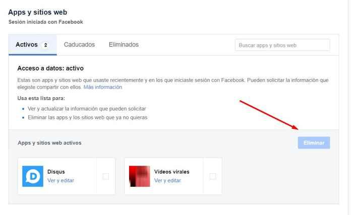 Facebook App y Sitios Web