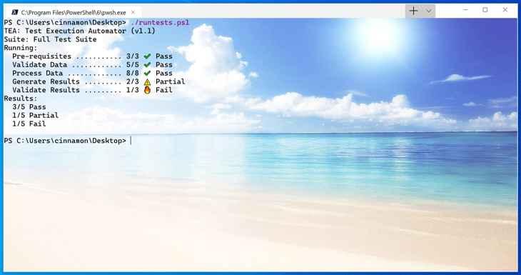 Windows Terminal con imagen en background