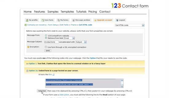 Formulario de contacto código para pegar