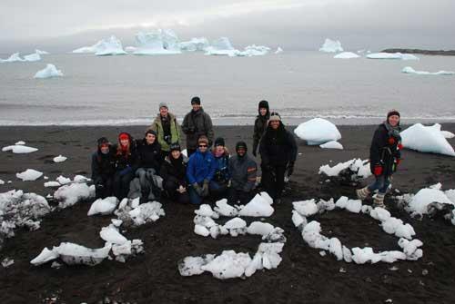 350 día acción climática (cape farewall)