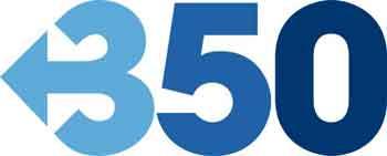 350 día acción climática, logo