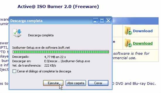 Active@ ISO Burner ejecutar