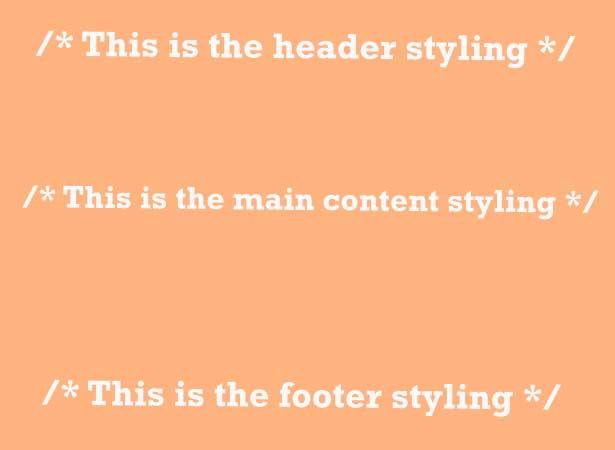 comentarios CSS